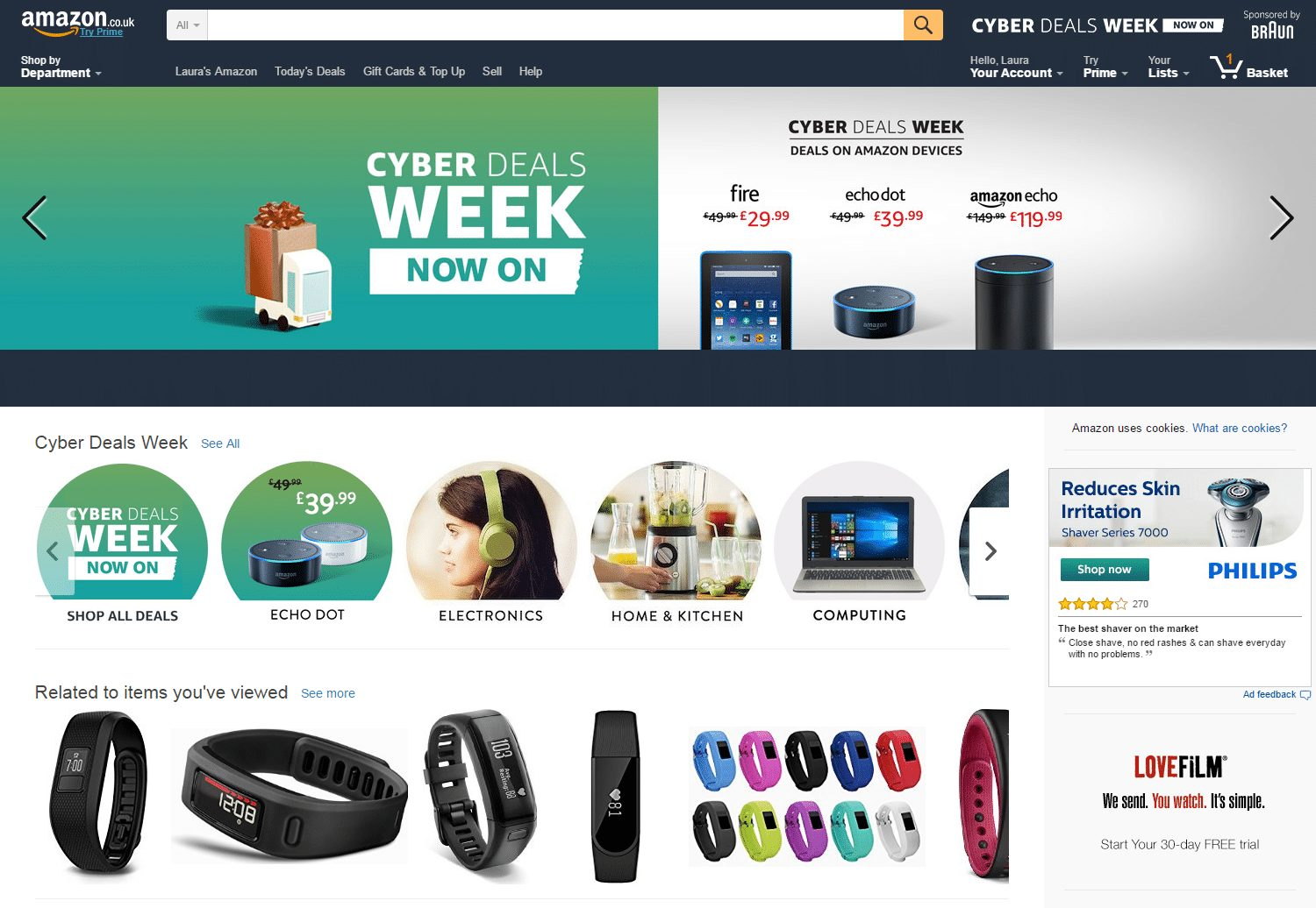 Website personalisation tactics include product recommendations