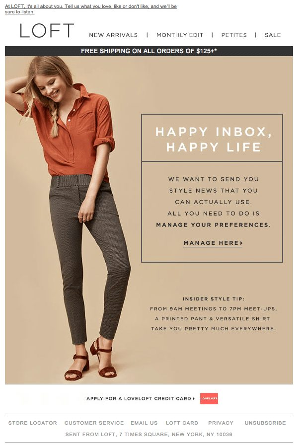 Reengagement email marketing from Retail industry