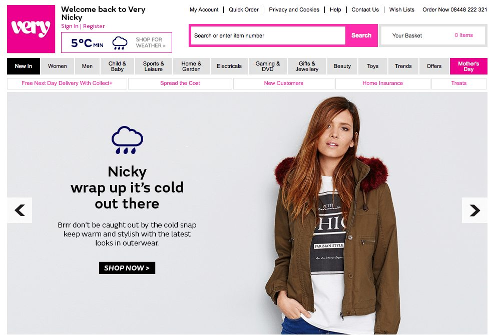 Website personalisation tactics include changeable web banners